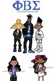 thirty cartoon characters reimagined as members of black fraternities and sororities arnold gerald and static shock