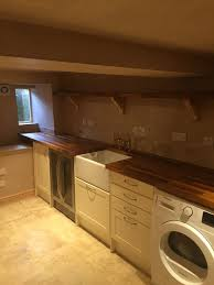 conversion of a damp basement into a utility room and storage