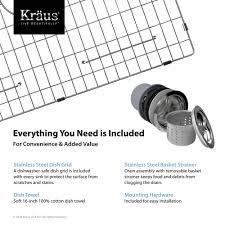 Kitchen Faucet Installation Instructions Stainless Steel Kitchen Sinks Kraususacom