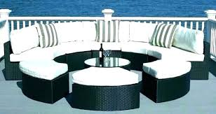 circular patio table round couch curved sectional outdoor seating furniture semi garden bench uk ci