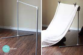 making your own backdrop stand