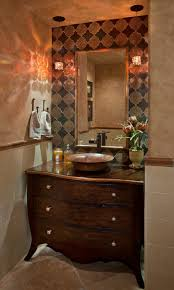 maestro bajo vessel sinks terranean powder room by santa ana interior designers decorators cindy smetana interiors