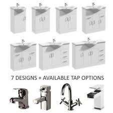 gloss gloss modular bathroom. Image Is Loading White-High-Gloss-Modular-Bathroom-Vanity-Cabinet-Basin- Gloss Modular Bathroom