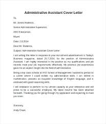 Assistant Cover Letter Sample Executive Assistant Cover Letter 2016 Administrative Cover Letter