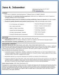... How To Write Duties And Responsibilities In Resume Substitute Teacher  Cover Letter Examples No Experience ...