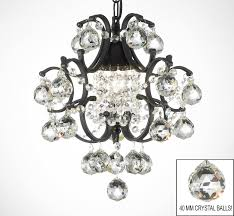 wrought iron crystal chandelier to enlarge