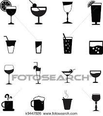 飲み物 ガラス シルエット クリップアート