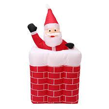 Light Up Pop Up Santa 1 6m Telescoping Santa Inflatable Christmas Light Pop Up Chimney Decorations