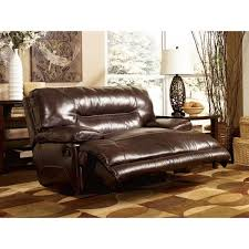oversized leather power wall saver recliner by ashley furniture luxurious sweet chocolate padding with plush over stuffed comfort for your living room