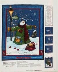 Christmas Quilt Fabric Panel Jingle Bell Snowman Holiday Fabric ... & Christmas Fabric Panels | Tattered Snowman Christmas Cotton Quilting Fabric  Panel Adamdwight.com