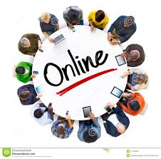 Online Group Multi Ethnic Group Of People And Online Concept Stock Photo