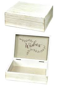 rose white wash wooden wishes card box personalized gifts and party favors wood wedding with slot