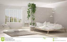 Skandinavisches Weißes Unbedeutendes Badezimmer Und Schlafzimmer