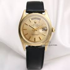 details about rare rolex day date 6611b 18k yellow gold