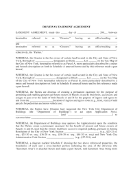 Driveway Easement Agreement Form - 4 Free Templates In Pdf, Word ...
