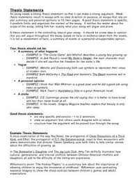best thesis statement ideas writing a thesis how to write thesis statements handout