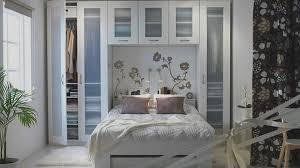 Collect this idea photo of small bedroom design and decorating idea - white  floral print