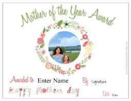 Free Mothers Day Certificate Customize Online Then Print At Home