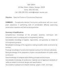 Construction Worker Description Laborer Job Description For Resume