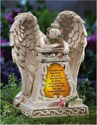 angel garden. solar lighted weeping angel garden statue