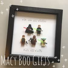 personalised gift present mini lego star wars special edition frame superhero