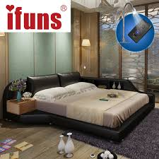 luxury king size bedroom furniture sets. IFUNS King \u0026 Queen Size Double Bed Frame Genuine Leather Luxury Bedroom Furniture Sets Storage Chaise Tatami LED Night USBcharge-in Beds From On