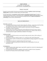 60 Recent Policy Analyst Resume Sample Template Free