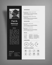 Simple Resume Cv Design Template Free Psd File Good Resume Design