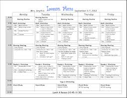 12 Best Images Of Sample Blank Lesson Plan Format High School