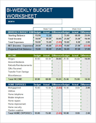 Excel Biweekly Budget Template Free 9 Examples Of Bi Weekly Budget Templates In Google