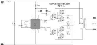 100w dc power inverter circuit diagram circuit diagram world rh circuitdiagramworld com power inverter diagram power