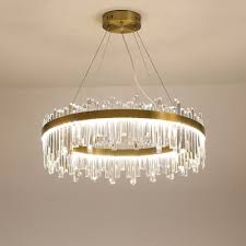 rectangle cut crystal round chandelier