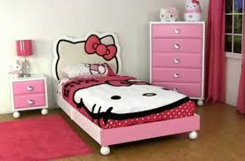 Bedroom Decoration Disney Furniture Collection With Hello Kitty Decor Bed  And Pink Color Furniture With White ...