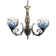 blue glass chandelier blue glass shade inverted ceiling light chandelier with 3 lights in antique brass blue glass chandelier
