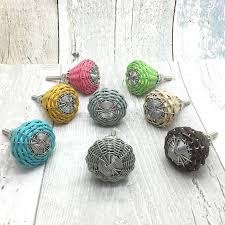 willow woven cord cupboard door knobs pull handles by g decor ...