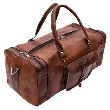 23 inch vintage leather bags luggage duffel large travel carry on air cabin sports gym
