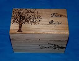 Decorative Recipe Box Decorative Wood Burned Wedding Guest Book Box Rustic Wooden Recipe 11