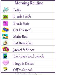 After School Routine Visual Schedule Free Back To Morning