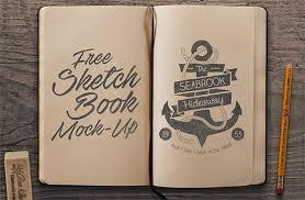 free sketchbook mock up psd