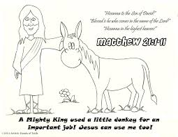 Small Picture download this free palm sunday coloring page showing jesus and his