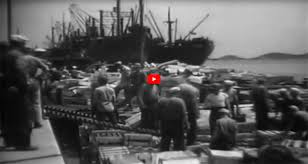 scenes from noumea new caledonia taken a few months before ed s arrival note the ships being unloaded pan am