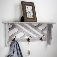 Coat Rack Attached To Wall Rustic Coat Rack With Shelf Wayfair 56