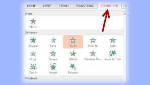 Powerpoint Animations Powerpoint Change Animation Direction