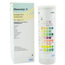 Roche Chemstrip 10 Color Chart Chemstrip 9 100 Count