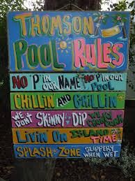 Swimming Pool Decor Signs Pool Decor Signs Wedding Decor 32