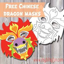 Chinese dragon masks they come in all kinds of colors, my favourite ones are the ones that are red and golden so i've made one mask in this color scheme, the other one is a a blank template so your kids can let their imagination run wild and color their dragon in any color they like, i've seen quite a few. Free Printable Chinese Dragon Mask Template Itsybitsyfun Com