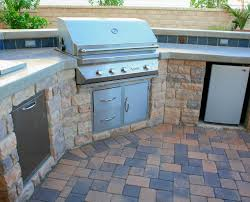 bbq outdoor on pavingstone