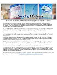 Vending Machine Business Profits Gorgeous How To Start Your Own Ice Vending Machines Business