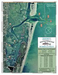 Details About Sealake South Carolina Murrells Inlet Fishing Map Chart Print