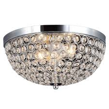 crystal flush mount chandelier. Decor Living 2-Light Chrome And Crystal Flushmount Flush Mount Chandelier
